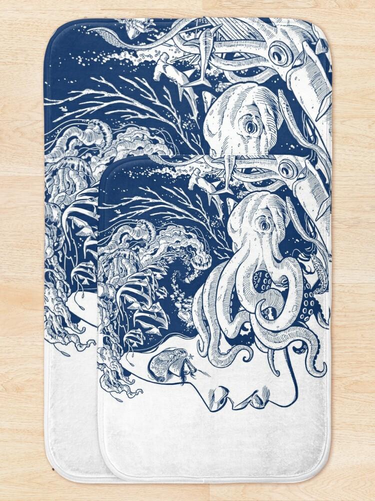 Alternate view of Poseidon's Mistress Blue Alternate Bath Mat