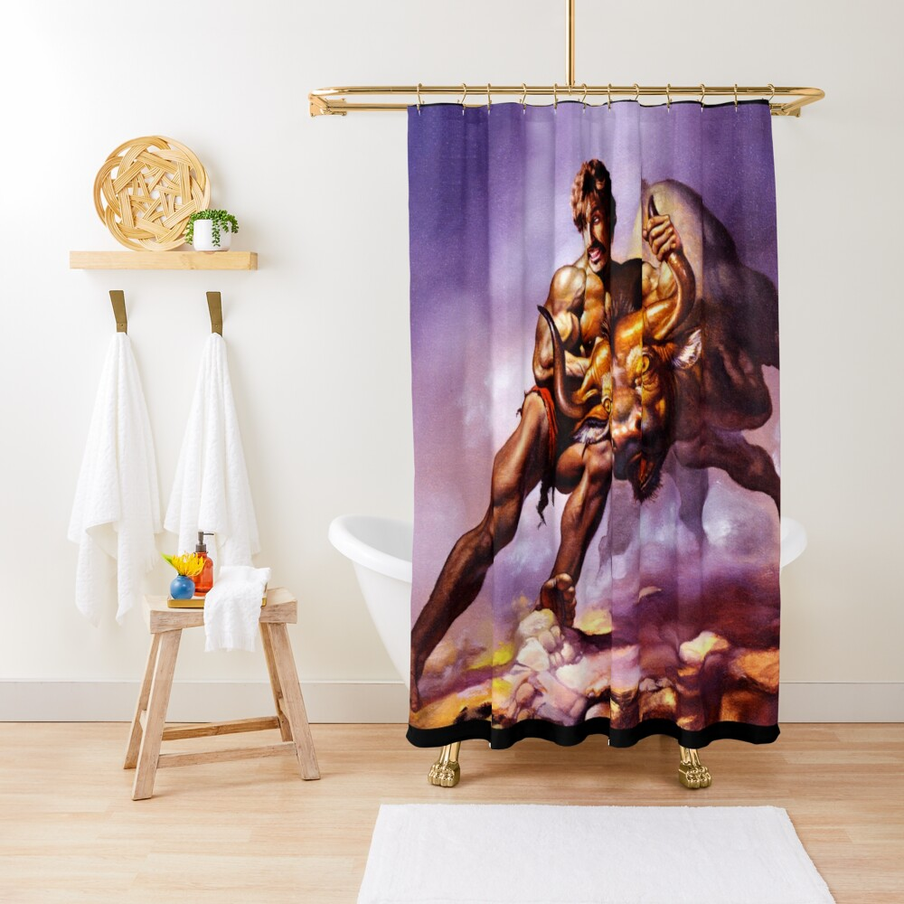 Dodgeball Painting Shower Curtain