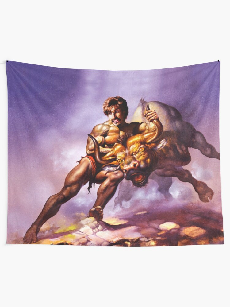 Alternate view of Dodgeball Painting Wall Tapestry
