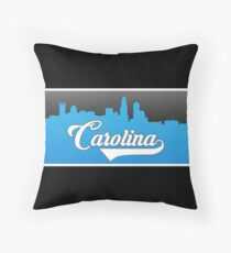 Carolina Football Classic Skyline Throw Pillow