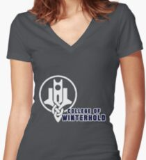 College of Winterhold Women's Fitted V-Neck T-Shirt