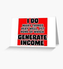 Income Generation Greeting Card