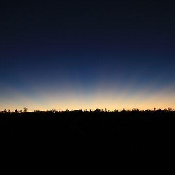 Wildlife sunset at Ayers Rock by alexandersuen