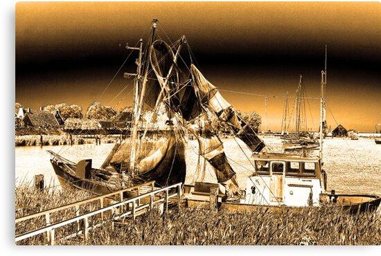 Dutch Fishing Trawler by aidan  moran