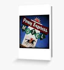 Pony Express Motel Greeting Card