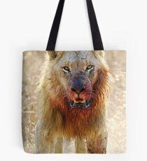 Majingilane - Male Lion - Hyena Intimidation Tote Bag