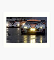 Race In The Rain Art Print