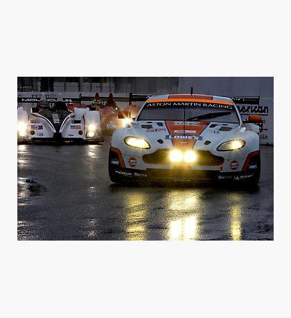 Race In The Rain Photographic Print