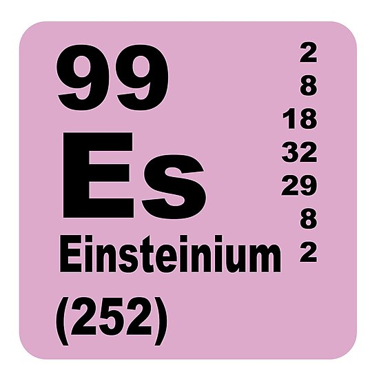 Einsteinium Periodic Table Of Elements Photographic Prints By