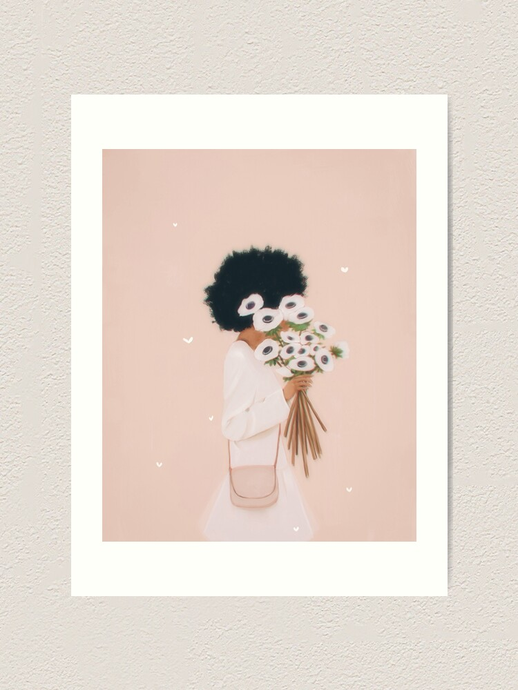 Alternate view of Woman with flowers Art Print