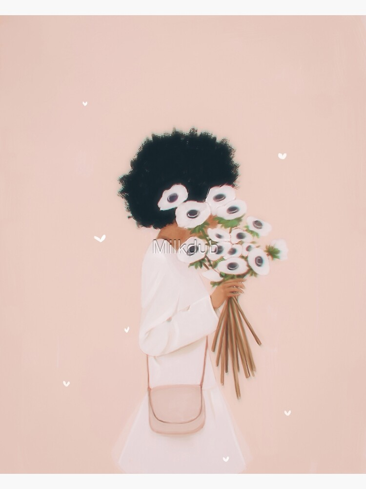 Woman with flowers by Milkdub