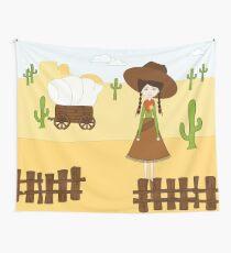 Celeste, la Vaquera del Oeste Tela decorativa