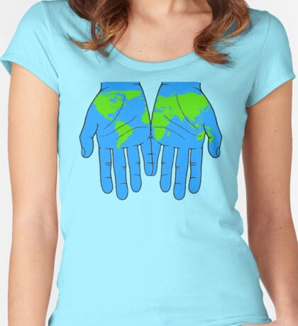 World in Our Hands Women's Fitted Scoop T-Shirt