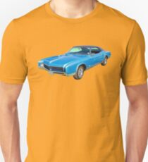 Blue 1967 Buick Riviera Muscle Car Unisex T-Shirt