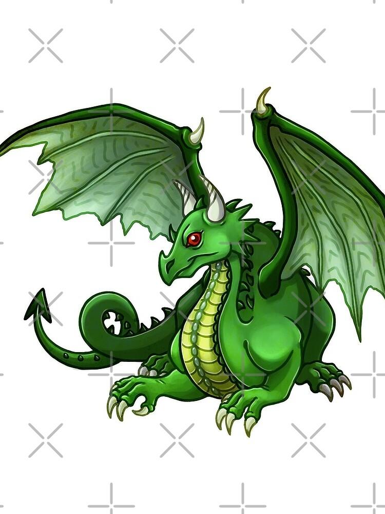 green dragon sat by kajsabl