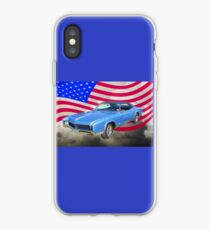 1967 Buick Riviera With United States Flag iPhone Case