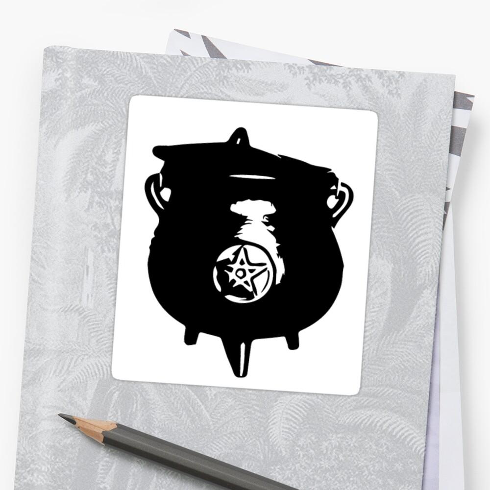 witch cauldron Sticker