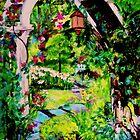 Camille's Secret Cottage Garden by Helena Bebirian