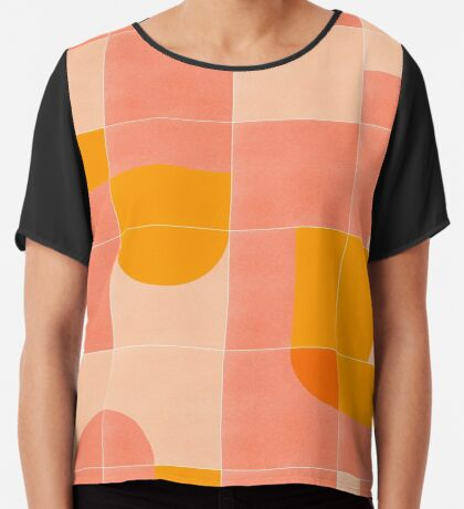 Retro Tiles 03 #redbubble #pattern Chiffon Top