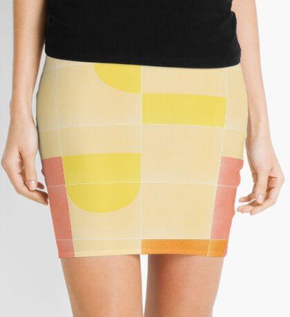 Retro Tiles 01 #redbubble #pattern Mini Skirt