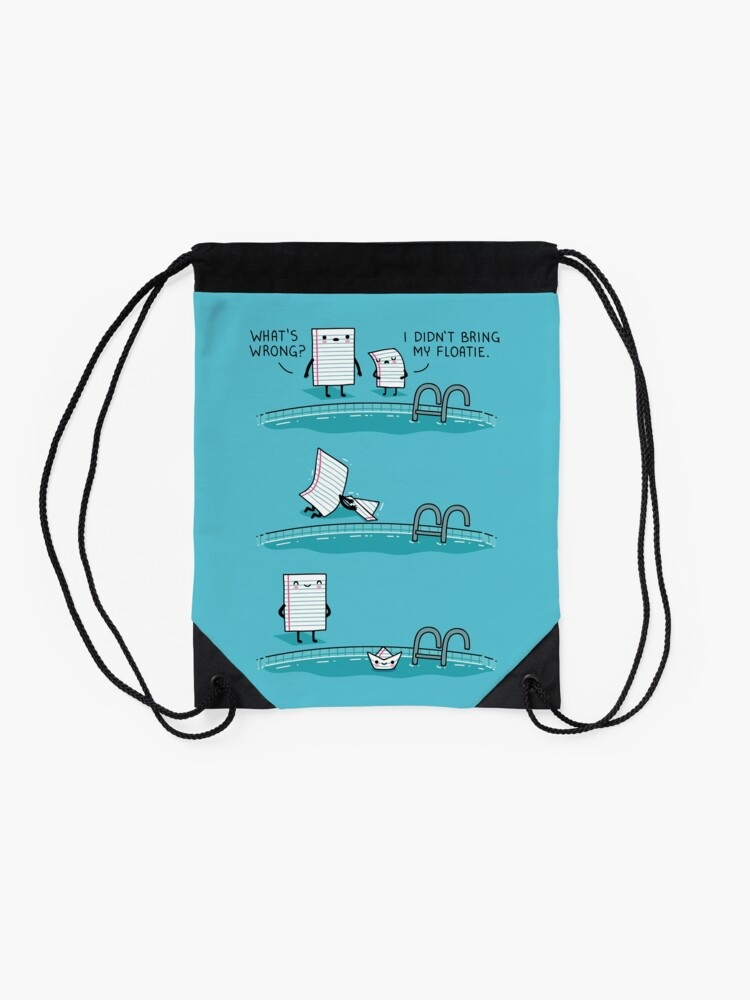Alternate view of The floatie Drawstring Bag