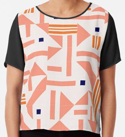 Random Tiles #redbubble #pattern Chiffon Top