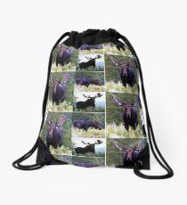 Bull moose Drawstring Bag