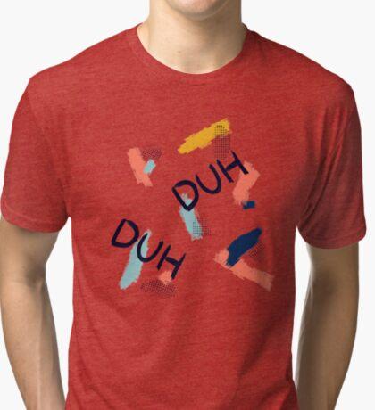 DUH Pattern #redbubble #pattern Tri-blend T-Shirt