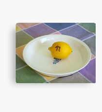 Lemon Pi Canvas Print