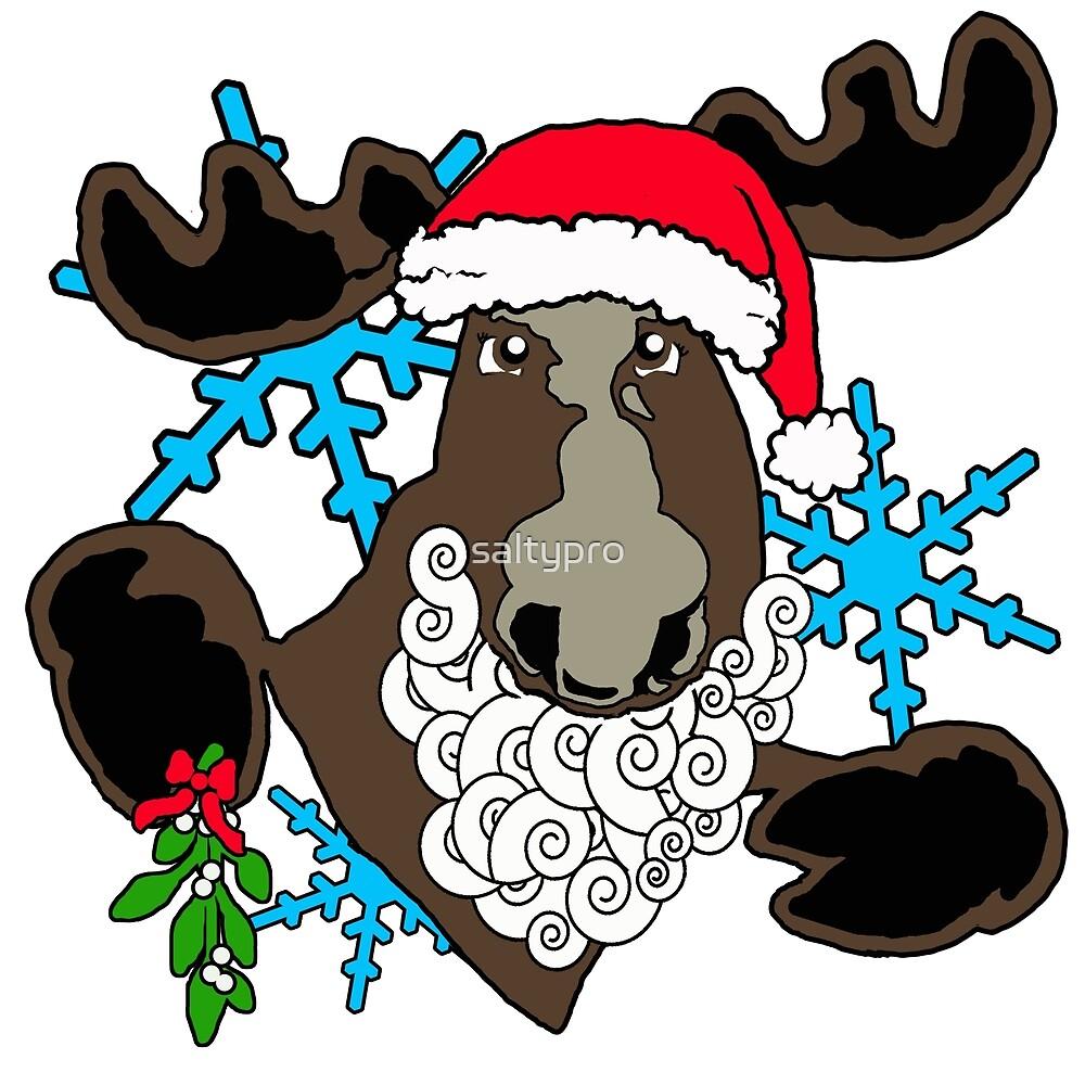 Mistletoe moose  by saltypro