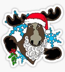 Mistletoe moose  Sticker