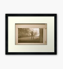 Morning self portrait - Afjord . Norway. by Brown Sugar. Framed Print