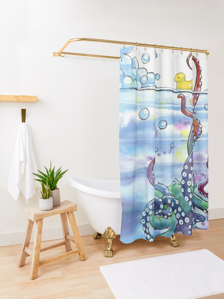Alternate view of Bath Time Octopus Shower Curtain
