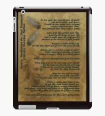 """""""Live Your Life""""  on old parchment, Chief Tecumseh iPad Case/Skin"""
