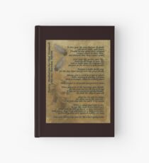 """""""Live Your Life""""  on old parchment, Chief Tecumseh Hardcover Journal"""