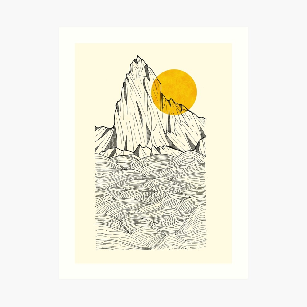 Sun Cliffs Art Print