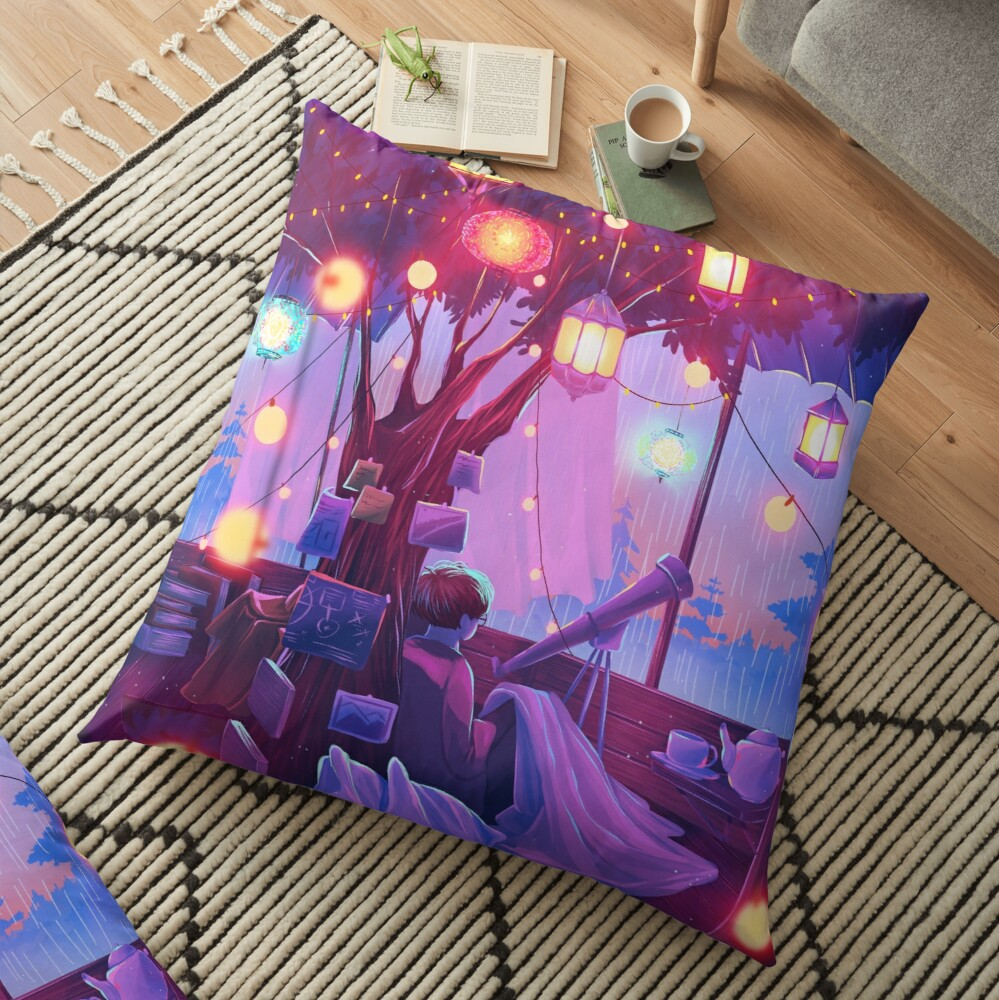little hideout Floor Pillow