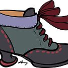 Fluevog Investigator - Green / Black / Purple / Burgundy by anne m bray