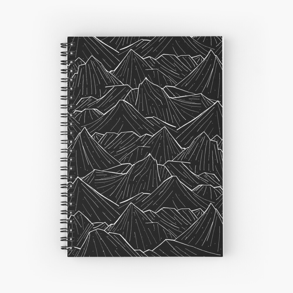 The Dark Mountains Spiral Notebook