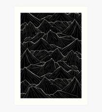 The Dark Mountains Art Print