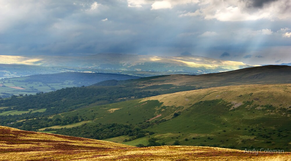 View Across the Brecon Beacons by Andy Coleman