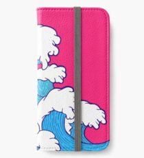 Wie die Wellen einrollen iPhone Flip-Case/Hülle/Klebefolie