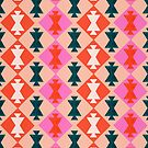 Aserbaidschan-Muster - Rosa u. Knickente von Cat Coquillette