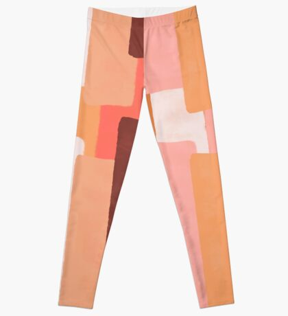 Line In Coral #redbubble #abstractart Leggings