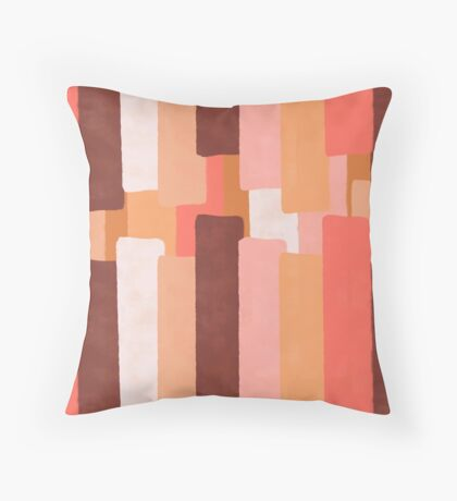 Line In Coral #redbubble #abstractart Floor Pillow