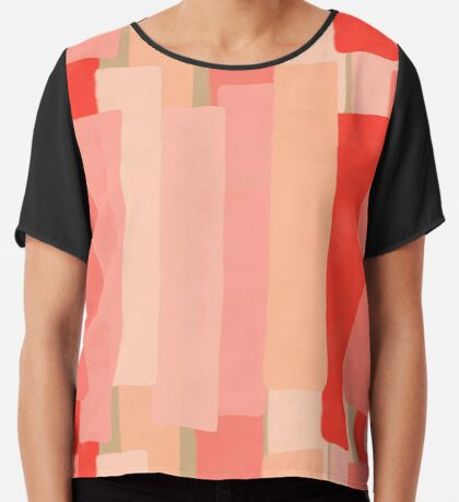Like In Coral #redbubble #abstractart Chiffon Top