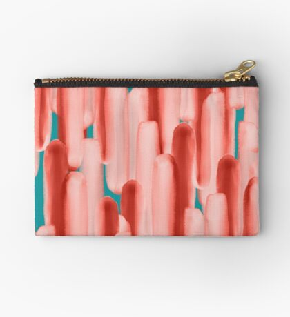 Live In Coral #redbubble #abstractart Zipper Pouch