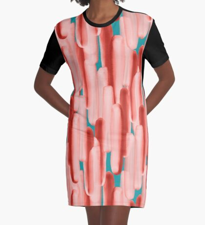 Live In Coral #redbubble #abstractart Graphic T-Shirt Dress