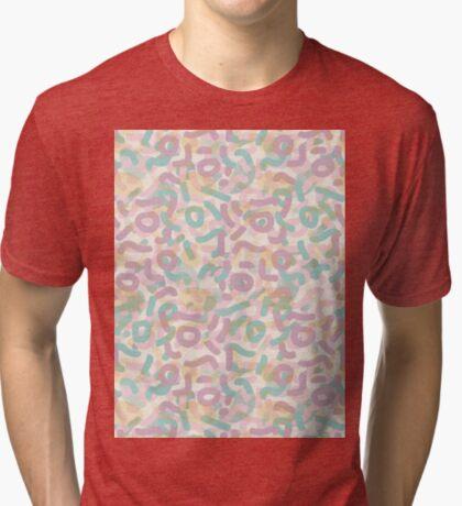 Funny Mess #redbubble #abstractart Tri-blend T-Shirt