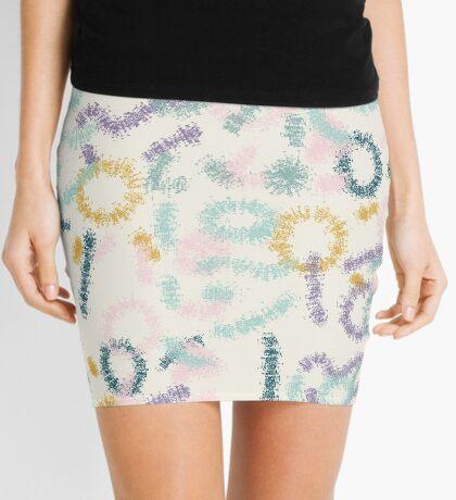 Playful #redbubble #abstractart Mini Skirt